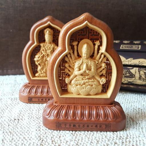 佛陀木雕刻品