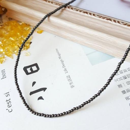 2mm 赤铁矿(长)项链