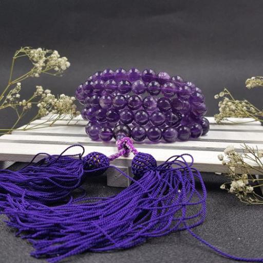 10mm 紫水晶108念珠