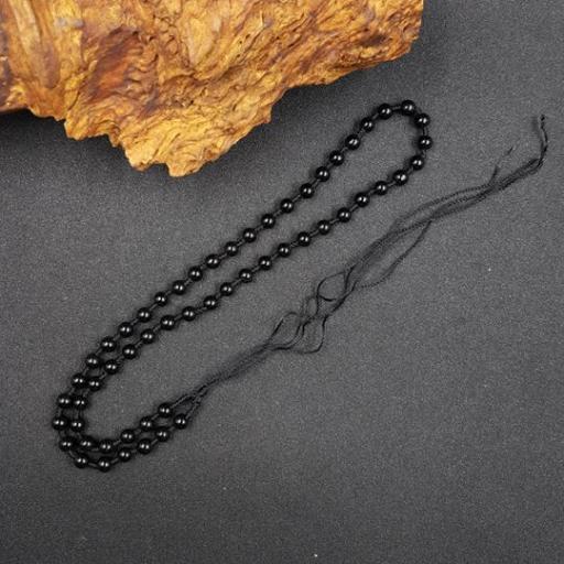 6mm 黑玛瑙+黑绳项链