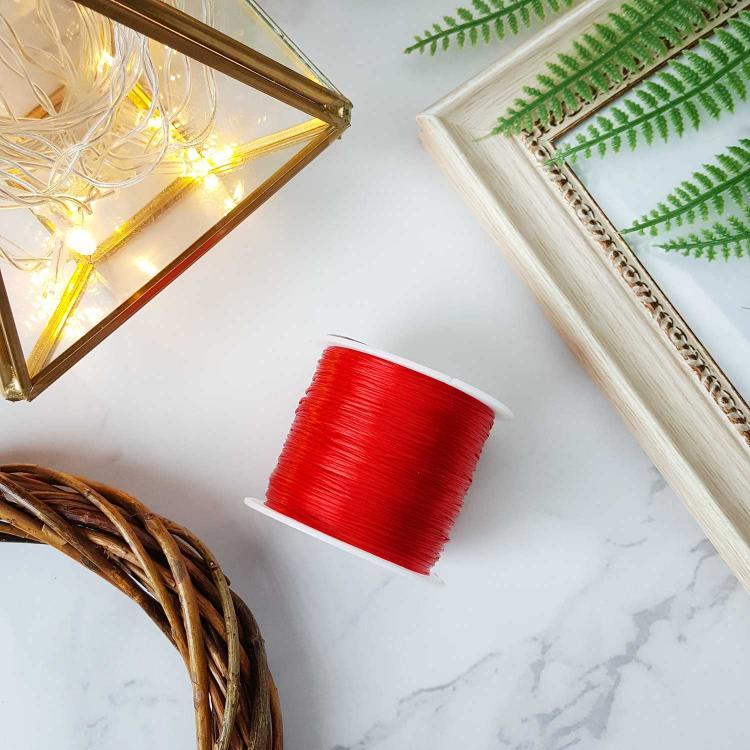 水晶红色绳子