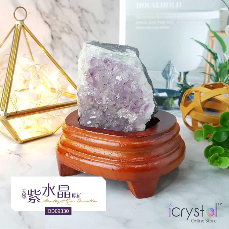 紫水晶石片包括木座
