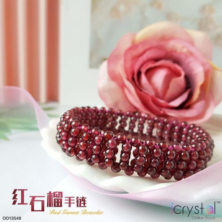 红石榴花型手链