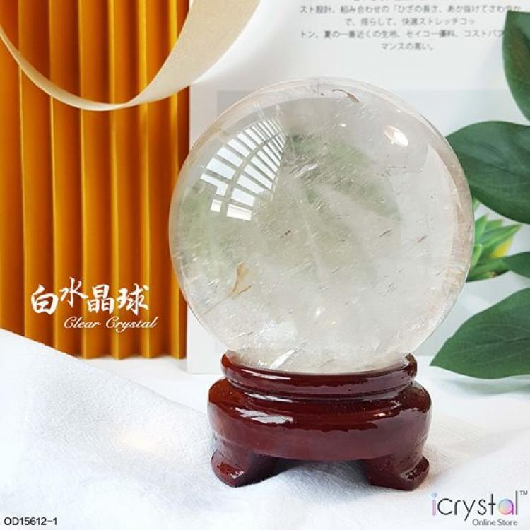 90.5mm 白水晶球