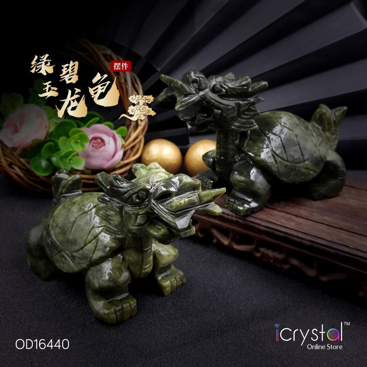 绿碧玉龙龟雕刻品