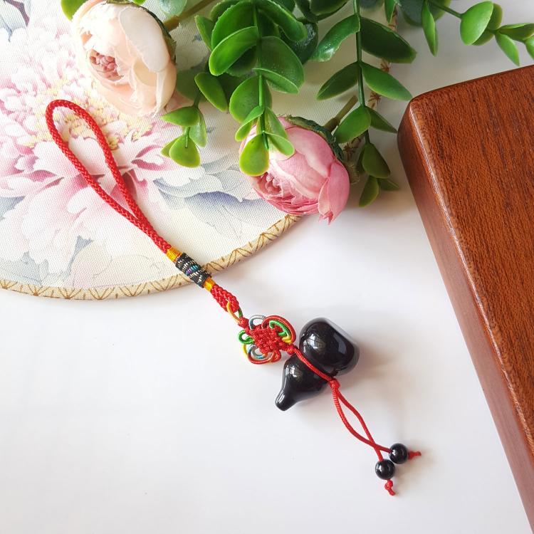 黑曜石葫芦吊饰