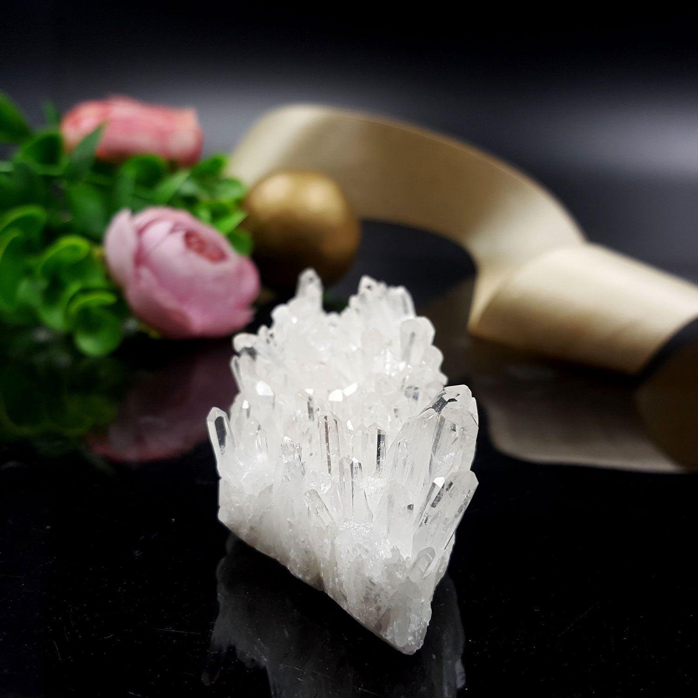 白水晶簇搭配盆+砂