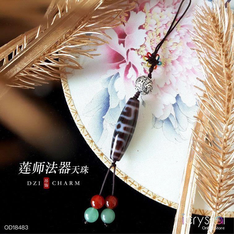 莲师法器天珠吊饰