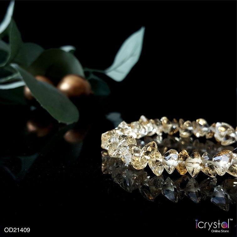 顶级黄水晶手链
