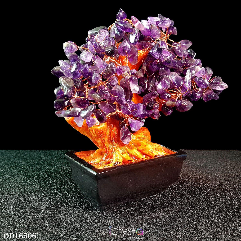 紫水晶树摆件
