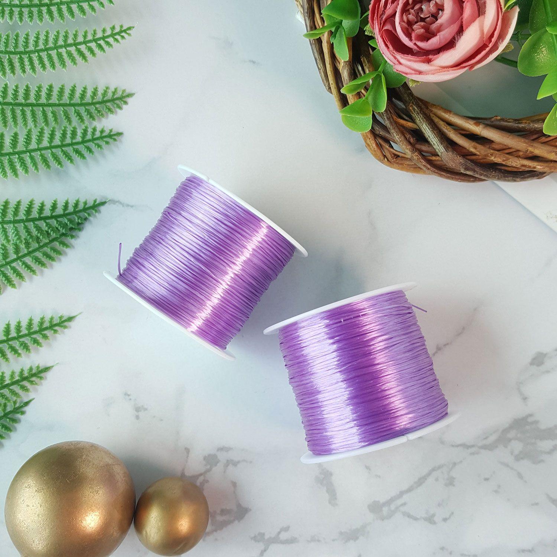 水晶亮紫绳子