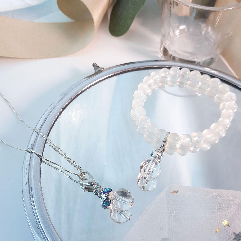 10mm 白水晶吊坠