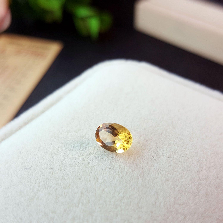 黄水晶裸石