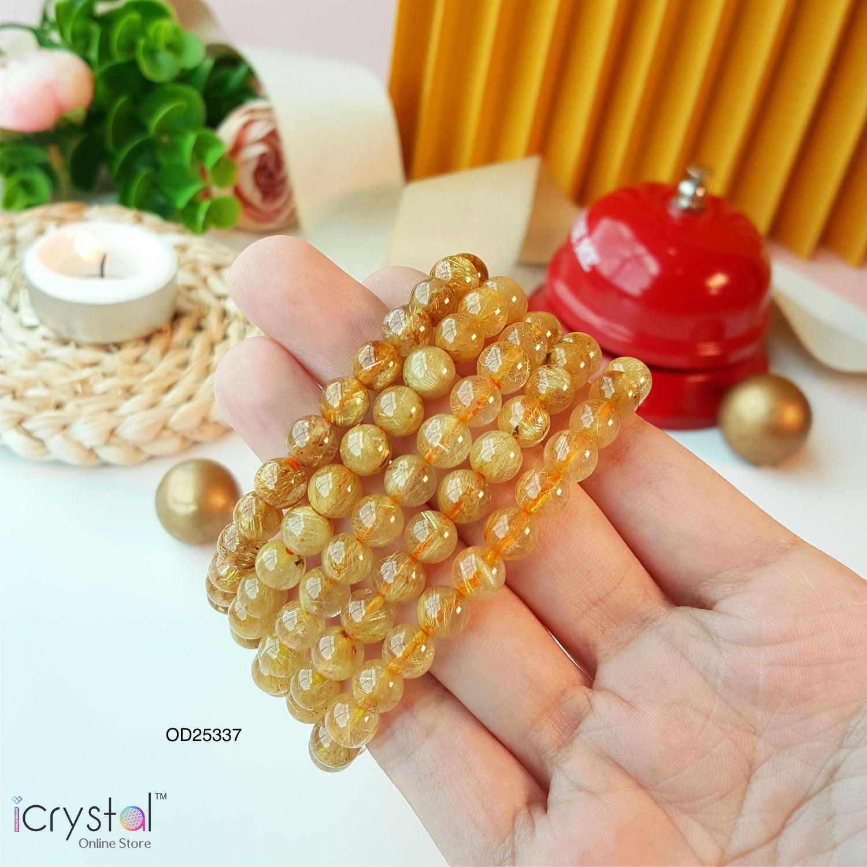 7mm 金发晶/钛晶手链