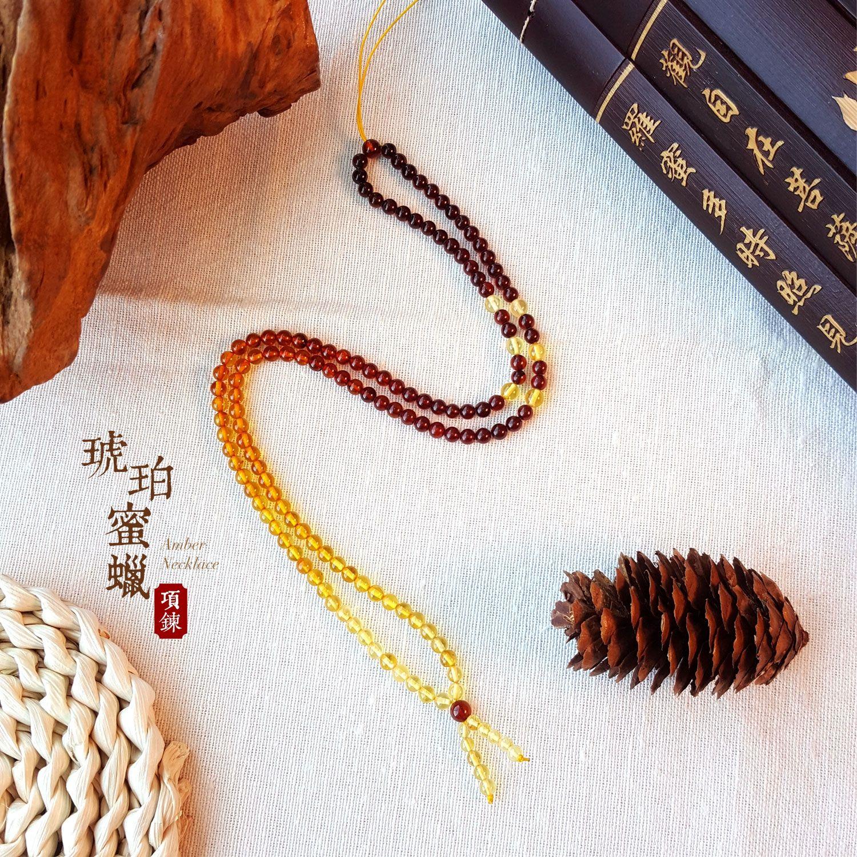 4mm 琥珀蜜蜡项链