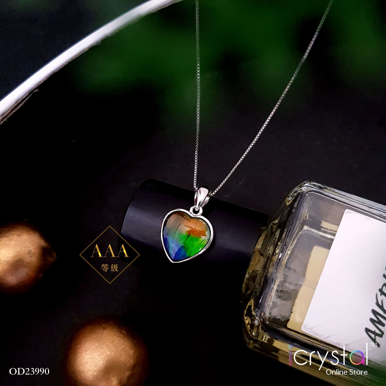 10mm x 9mm 斑彩石心形吊坠